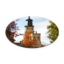 Split Rock Lighthouse Oval Car Magnet