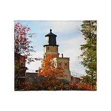 Split Rock Lighthouse Throw Blanket