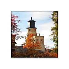 """Split Rock Lighthouse Square Sticker 3"""" x 3"""""""