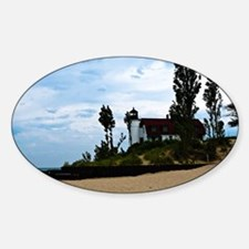 Point Betsie Lighthoues Sticker (Oval)