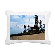 Point Betsie Lighthoues Rectangular Canvas Pillow