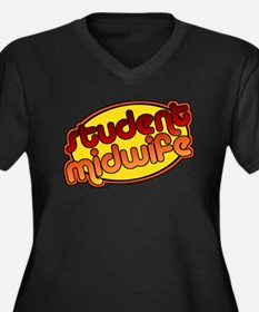 Student Midwife (bright) Women's Plus Size V-Neck