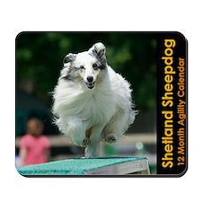 Shetland Sheepdog Agility Calendar 2 Mousepad