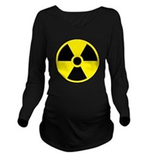 Radiation Sign e1 Long Sleeve Maternity T-Shirt