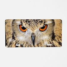 Bengalese eagle owl Aluminum License Plate