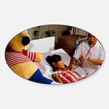 Young girl undergoing renal dialysi Decal
