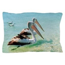 Australian pelicans Pillow Case
