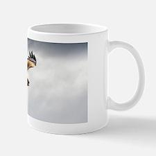 Black kite in flight Mug