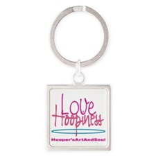 Love and Hoopiness Square Keychain
