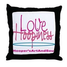 Love and Hoopiness Throw Pillow