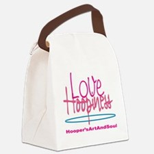 Love and Hoopiness Canvas Lunch Bag