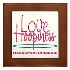 Love and Hoopiness Framed Tile
