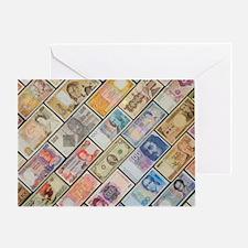 Bank notes of various nationalities Greeting Card