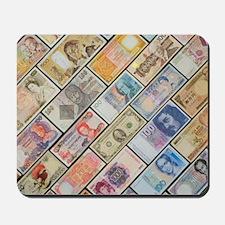 Bank notes of various nationalities Mousepad