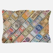 Bank notes of various nationalities Pillow Case