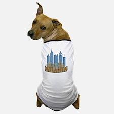Atlanta Skyline Newwave Beachy Dog T-Shirt