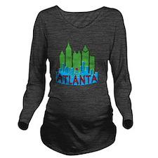 Atlanta Skyline Neww Long Sleeve Maternity T-Shirt