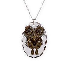 Steampunk Metallic Owl Necklace