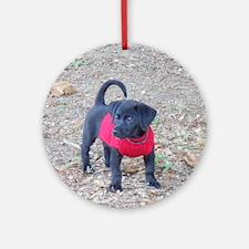 Beagador Puppy Round Ornament