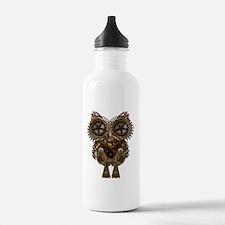 Large Steampunk Owl Water Bottle