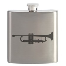 Trumpet Silhouette Flask