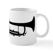 Trumpet Silhouette Mugs