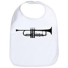 Trumpet Silhouette Bib