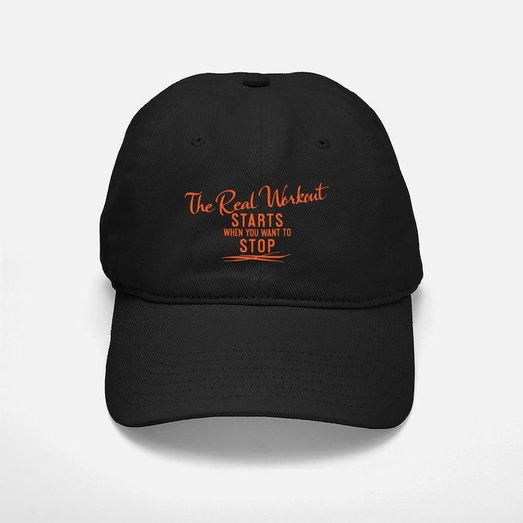 mug The real workout starts when you wan Baseball Hat
