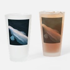 Beluga whale bull Drinking Glass