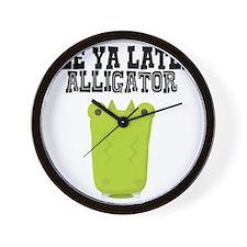 See Ya Later Alligator Wall Clock