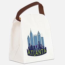 Atlanta Skyline Newwave Cool Canvas Lunch Bag