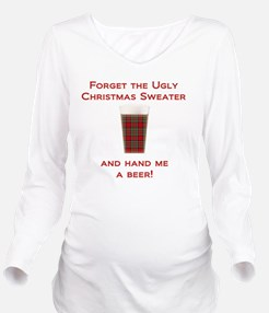 Ugly Sweater Beer Long Sleeve Maternity T-Shirt