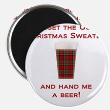 Ugly Sweater Beer Magnet