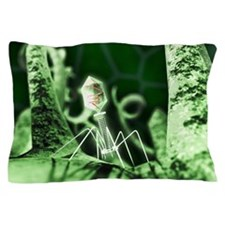 Bacteriophage virus, artwork Pillow Case
