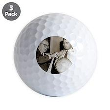 Wernher von Braun and Willy Ley Golf Ball