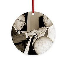 Wernher von Braun and Willy Ley Round Ornament