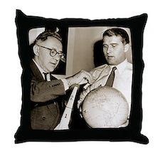 Wernher von Braun and Willy Ley Throw Pillow