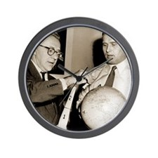 Wernher von Braun and Willy Ley Wall Clock
