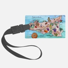 Map Of Sicily Luggage Tag