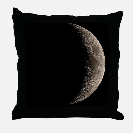 Waxing crescent Moon Throw Pillow
