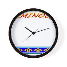 SEMINOLE INDIAN PATCHWORK Wall Clock