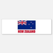 New Zealand Flag Bumper Bumper Bumper Sticker