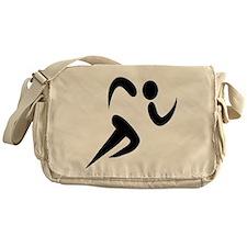 Run to goal and success Messenger Bag