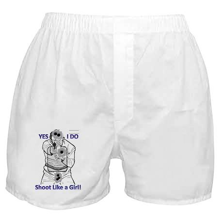 shoot like a girl! Boxer Shorts