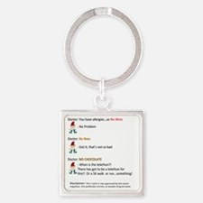 Call to Action - Cure Chocolate Al Square Keychain