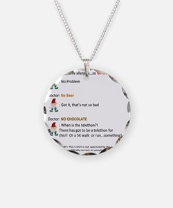 Call to Action - Cure Chocol Necklace Circle Charm
