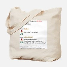 Call to Action - Cure Chocolate Allergy! Tote Bag