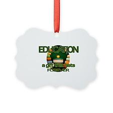 Education TRAY Ornament