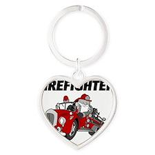 Future Firefighter Heart Keychain