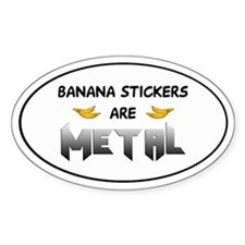 Banana Decals Oval Decal